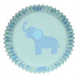 Baby Boy, 48 st blå muffinsformar