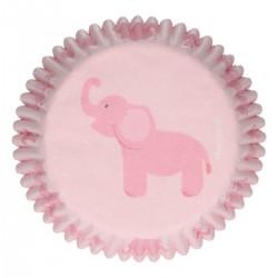 Baby Girl, 48 st rosa muffinsformar