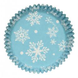 Frozen, 48 st blå muffinsformar
