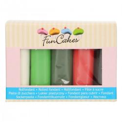 Jul-färgad sockerpasta, 5 X 100g