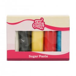 Basfärgad sockerpasta (nr 2), 5 X 100g