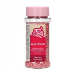Rosa sockerpärlor, 4 mm (Pearl Pink)