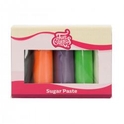 Halloween-färgad sockerpasta, 5 X 100g