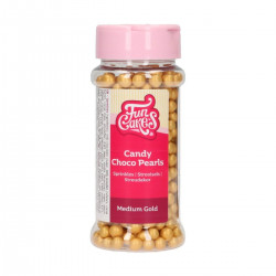 Guld chokladpärlor, 7 mm (FC)