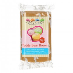 Sugarpaste m vaniljsmak, teddy bear brown 250g (Fun Cakes)