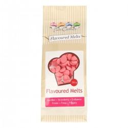 Flavoured Melts, rosa med jordgubbssmak 250g