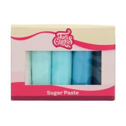 Blå sockerpasta, 5 X 100g