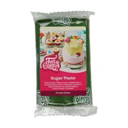 Grön sockerpasta m vaniljsmak, 250g (Forest Green)