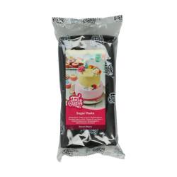 Svart sockerpasta m vaniljsmak, 1 kg (Raven Black)
