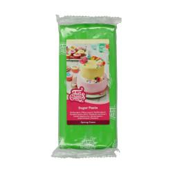 Grön sockerpasta m vaniljsmak, 1 kg (Spring Green)