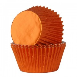 Foliemuffinsformar - Orange, 24 st