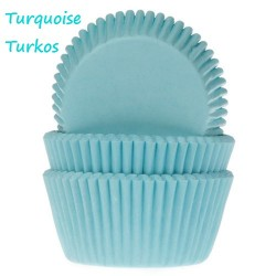 Turquoise, 50 st muffinsformar
