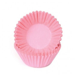 Rosa Petit Four formar, ca 100 st (Soft Pink)