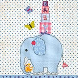 Baby Elephant - Blue, 20 st servetter