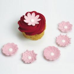 Blommor, 12 st dekorationer (rosa)