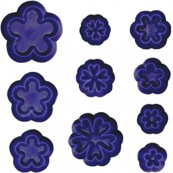 Blomma, 10 st små blomutstickare