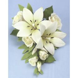 Blombukett med liljor, dekoration