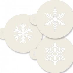 Snöflinga, 3 st schabloner