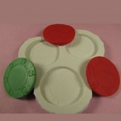 Poker Chips, silikonform