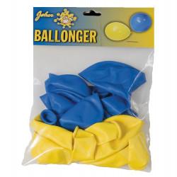 Ballonger, gula och blåa (10 st)