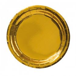 Guld, 8 st tallrikar (23 cm)