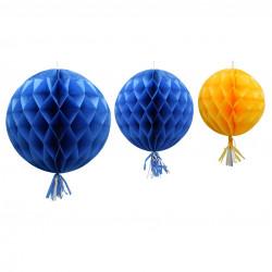 Honeycomb, gul och blå (3 st)