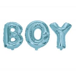 BOY, blåa folieballonger