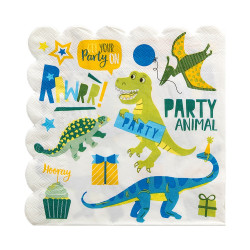 Dino Party, 16 st servetter