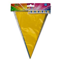 Vimpel i papp, 3 m (blå och gul)