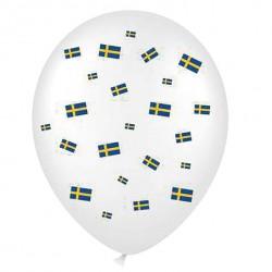Svenska flaggan, 6 st ballonger