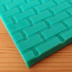 Tegelsten, mönstermatta i silikon (3181)
