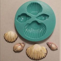 Snäckor (4 st), silikonform (KBK)