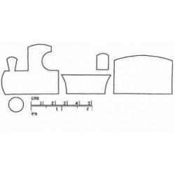 Tåg, 5 delar (utstickare)