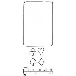 Spelkort med symboler, 5 st utstickare