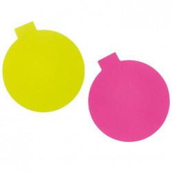 Rosa/Grön rondell m hållare, ca 8 cm