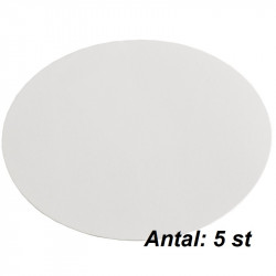 Tårtrondell, 5 st vita (ca 24 cm)