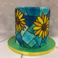 20200216 - Stained Glass Cake, tårtkurs