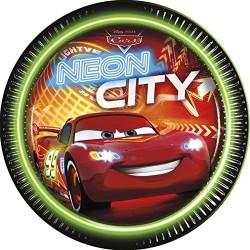 Blixten - Neon City, 8 st tallrikar