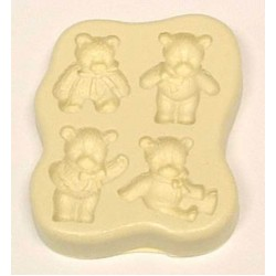 Teddy (4 st), silikonform