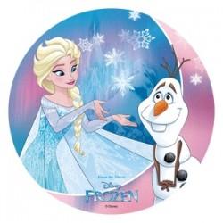 Frozen - Elsa och Olaf, oblatbild