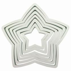 Stjärna, 6 st utstickare (PME)