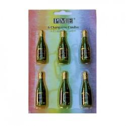 Champagne, 6 st ljus (PME)