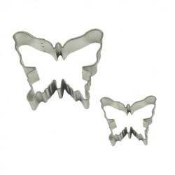 Fjärilar, 2 st kakformar