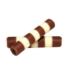 Belgian Striped Mini Chocolate Cigarello