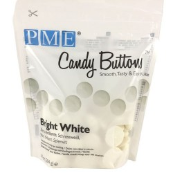 Candy Buttons, bright white 284g (vaniljsmak) PME
