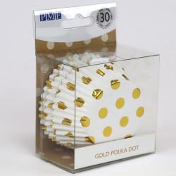 Polkadot - Gold dots, 30 st muffinsformar