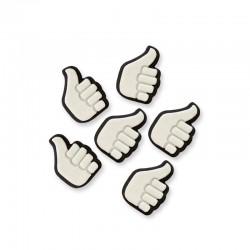 Thumbs Up, 6 st ätbara dekorationer