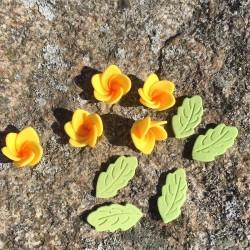 Blommor och blad, gula (PME)