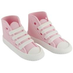 High Cut Sneaker, rosa tårtdekoration
