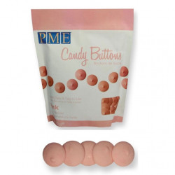 Candy Buttons, rosa (ljus) 340g